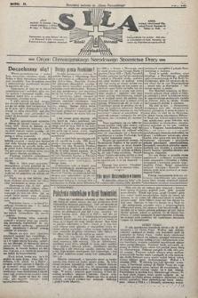 Siła : organ Chrześcijańskiego Narodowego Stronnictwa Pracy. 1922, nr46