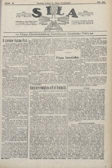 Siła : organ Chrześcijańskiego Narodowego Stronnictwa Pracy. 1922, nr48