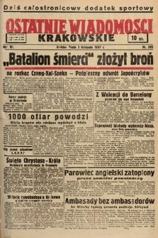 Ostatnie Wiadomości Krakowskie. 1937, nr305