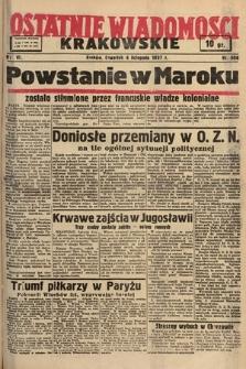Ostatnie Wiadomości Krakowskie. 1937, nr306