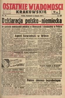 Ostatnie Wiadomości Krakowskie. 1937, nr310