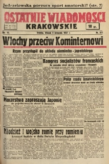 Ostatnie Wiadomości Krakowskie. 1937, nr311