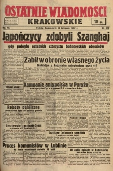 Ostatnie Wiadomości Krakowskie. 1937, nr317
