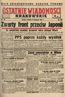 Ostatnie Wiadomości Krakowskie. 1937, nr320