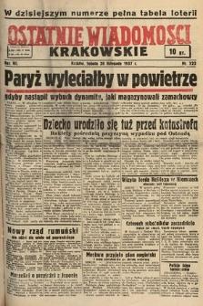 Ostatnie Wiadomości Krakowskie. 1937, nr322