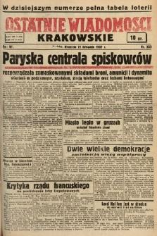 Ostatnie Wiadomości Krakowskie. 1937, nr323