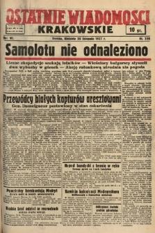 Ostatnie Wiadomości Krakowskie. 1937, nr330