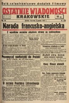 Ostatnie Wiadomości Krakowskie. 1937, nr334