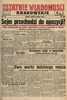 Ostatnie Wiadomości Krakowskie. 1937, nr336