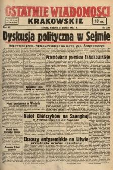 Ostatnie Wiadomości Krakowskie. 1937, nr337