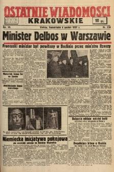 Ostatnie Wiadomości Krakowskie. 1937, nr338