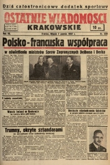 Ostatnie Wiadomości Krakowskie. 1937, nr339