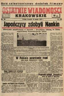 Ostatnie Wiadomości Krakowskie. 1937, nr348
