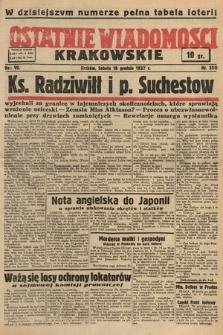 Ostatnie Wiadomości Krakowskie. 1937, nr350