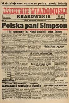 Ostatnie Wiadomości Krakowskie. 1937, nr352