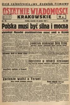 Ostatnie Wiadomości Krakowskie. 1937, nr360