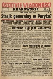 Ostatnie Wiadomości Krakowskie. 1937, nr361