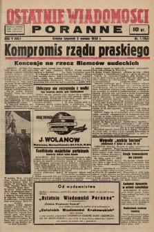 Ostatnie Wiadomości Poranne. 1938, nr1
