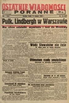 Ostatnie Wiadomości Poranne. 1938, nr78
