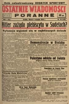 Ostatnie Wiadomości Poranne. 1938, nr96