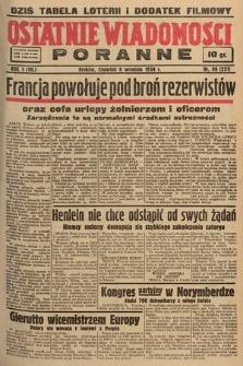 Ostatnie Wiadomości Poranne. 1938, nr98