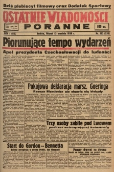 Ostatnie Wiadomości Poranne. 1938, nr103