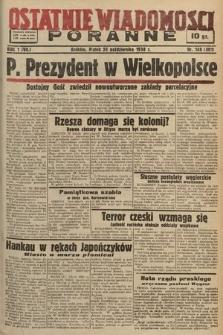 Ostatnie Wiadomości Poranne. 1938, nr148