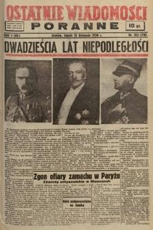 Ostatnie Wiadomości Poranne. 1938, nr163