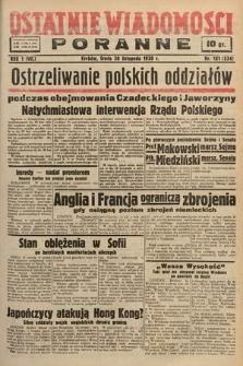 Ostatnie Wiadomości Poranne. 1938, nr181