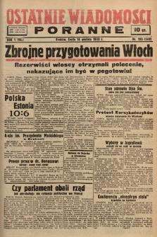 Ostatnie Wiadomości Poranne. 1938, nr195