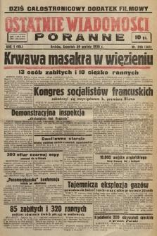 Ostatnie Wiadomości Poranne. 1938, nr208
