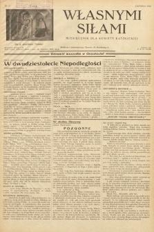 Własnymi Siłami : miesięcznik dla kobiety katolickiej. 1938, nr11