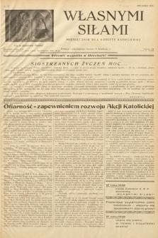 Własnymi Siłami : miesięcznik dla kobiety katolickiej. 1938, nr12