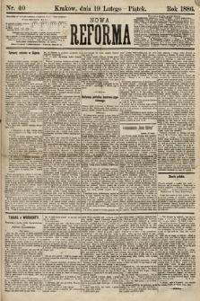 Nowa Reforma. 1886, nr40