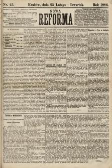 Nowa Reforma. 1886, nr45
