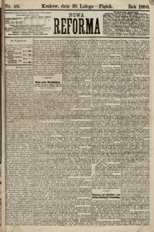 Nowa Reforma. 1886, nr46