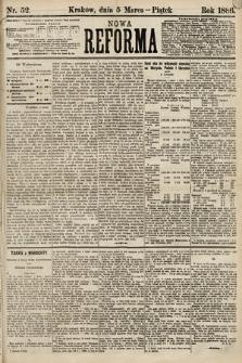 Nowa Reforma. 1886, nr52