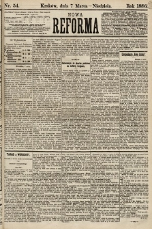 Nowa Reforma. 1886, nr54