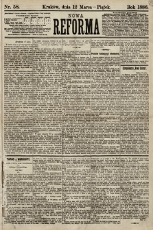 Nowa Reforma. 1886, nr58