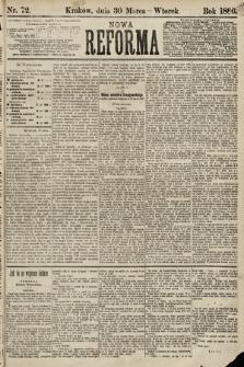 Nowa Reforma. 1886, nr72