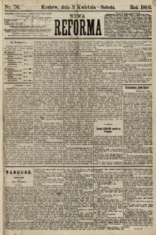 Nowa Reforma. 1886, nr76