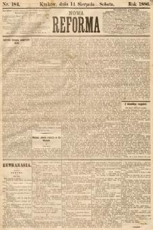 Nowa Reforma. 1886, nr184