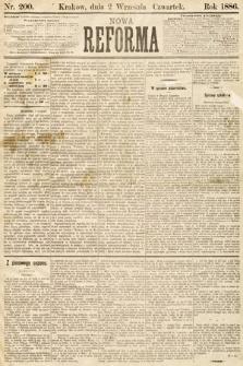 Nowa Reforma. 1886, nr200