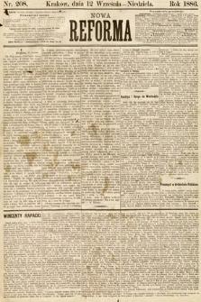 Nowa Reforma. 1886, nr208