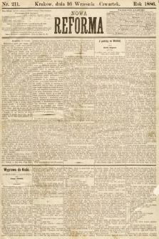 Nowa Reforma. 1886, nr211