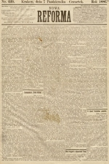 Nowa Reforma. 1886, nr229