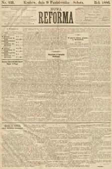 Nowa Reforma. 1886, nr231