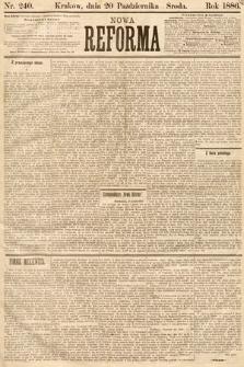 Nowa Reforma. 1886, nr240