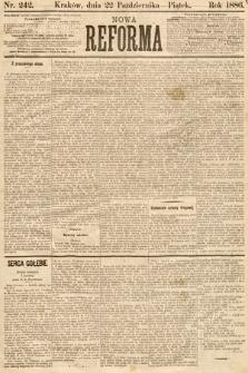 Nowa Reforma. 1886, nr242