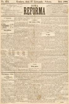 Nowa Reforma. 1886, nr272